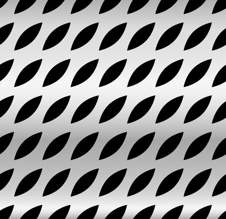 perforated: Metal with dimples, holes. Punched, perforated metal background. Repeatable. (metallic gradient) Stock Photo