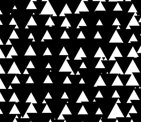 once: Black and white pattern with triangles up and down. Triangle shapes with inverse space.  (Only black or white triangles can be see at once.)