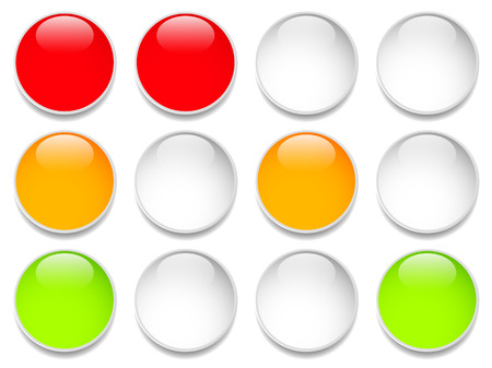 disallowed: Traffic lights, traffic lamps isolated on white. (Semaphores) Vector.
