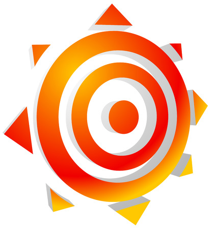 solarium: Symbolic sun. Editable vector graphics. Eps 10.