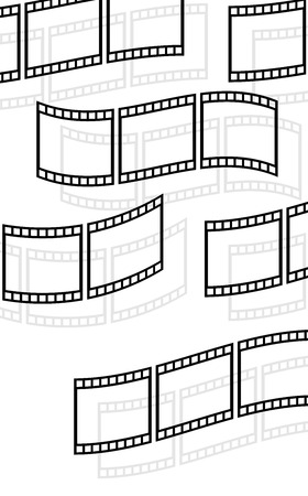 filmroll: Filmstrips, film rolls vector illustration for photographic concepts.
