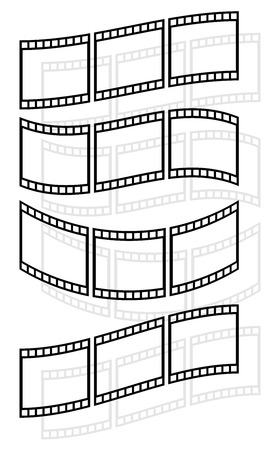 perforation tape: Filmstrips, film rolls vector illustration for photographic concepts.
