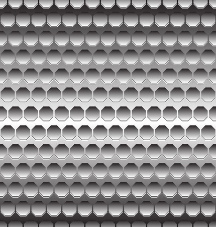 perforation: Abstract metal  metallic background with repeatable geometry. Editable. Illustration