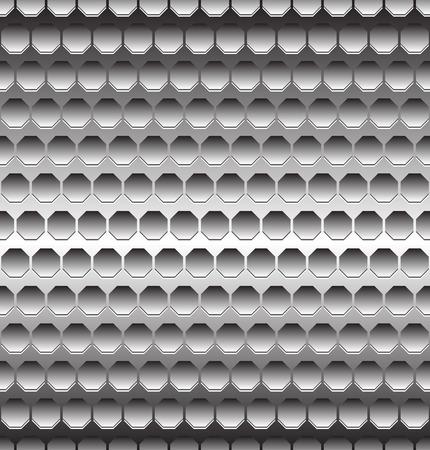metalic sheet: Abstract metal  metallic background with repeatable geometry. Editable. Illustration