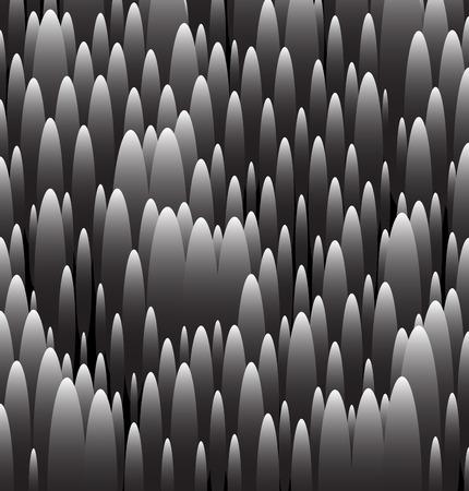 accidentado: Patr�n de escala de grises abstracta. Textura irregular con formas ovaladas. Vectores