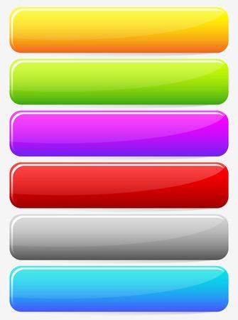 Bot�n en blanco Horizontal, Fondos de la bandera. Conjunto de m�s colores. Web, elementos de dise�o de impresi�n. Vector.