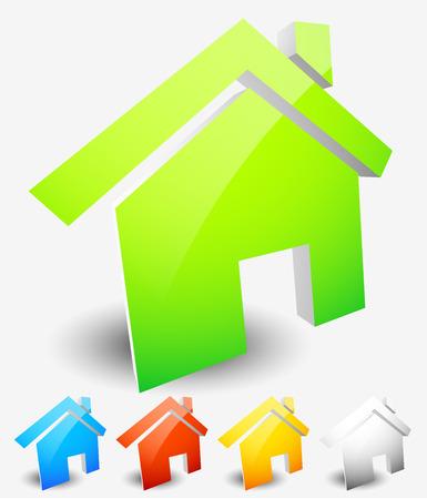 Haus Symbole. Haus, Wohnhaus, homepage icons. Vektorgrafiken. Vektorgrafik