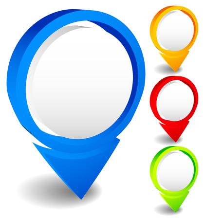 locating: Map markers, map pins vector illustration. Location, locating concept. abstract needles, thumbtacks. Illustration