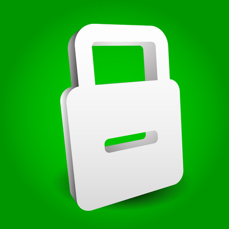 access granted: Padlock - lock concept graphics. Editable vector illustration, eps 10. Illustration