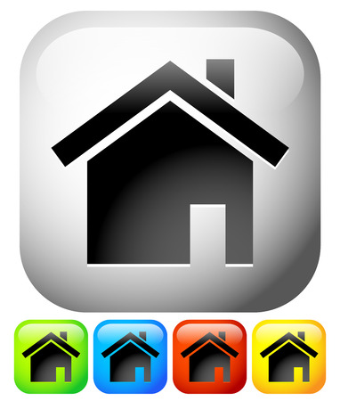 House icons. Home, house, residential building, homepage icons. Vector graphics. Vectores