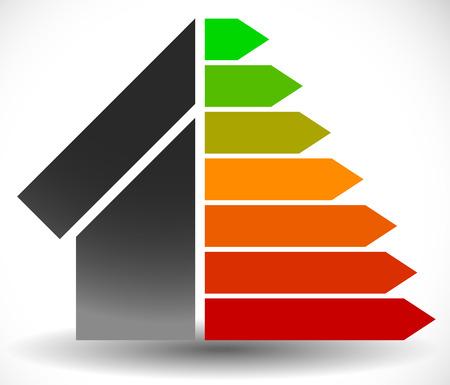 Haus mit Energie-Rating-Zertifikat, Energieausweis Standard-Bild - 41170024