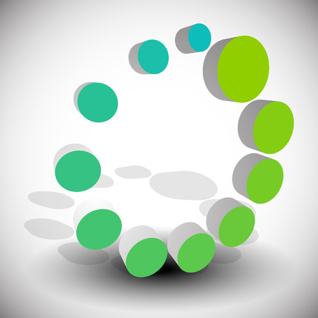 generic: Radial, dotted circle abstract element. Generic icon.