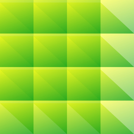 seamlessly: Simple green pattern of blocks  triangles. Editable vector. Seamlessly repeatable.