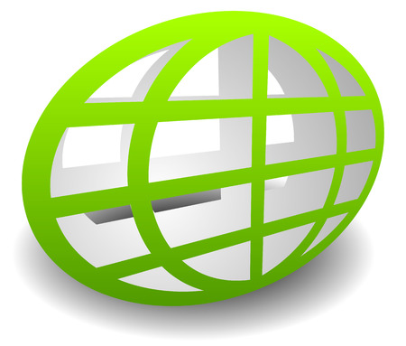 wireframe globe: Oval shaped wire-frame globe. Editable vector illustration Illustration