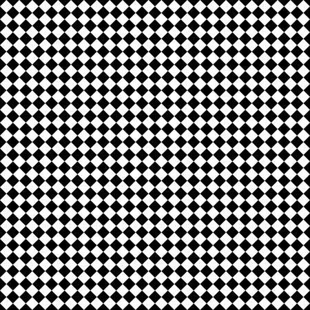 tilted: Seamlessly repeatable vector pattern. Checkered (chequered) background with tilted squares.
