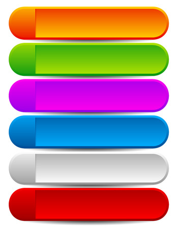 blank space: Colorful rounded banner or button backgrounds with blank space for your message. Illustration