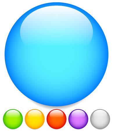 サークルのグラフィック。サークル ボタン、空白スペースが付いているバッジ。 写真素材
