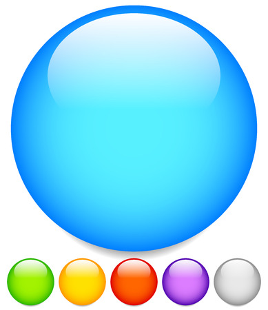 Circle graphics. Circles buttons, badges with blank space. Standard-Bild