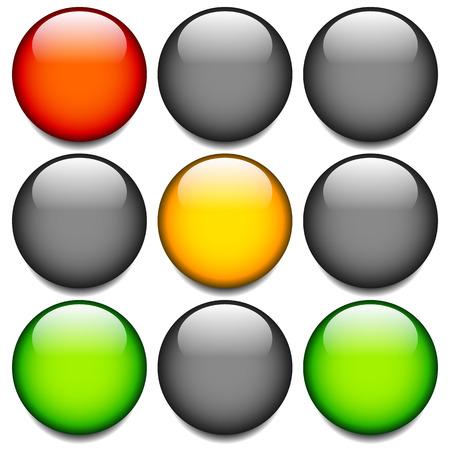 traffic light: Traffic light, traffic lamp, lampsemaphore. Eps 10 vector.