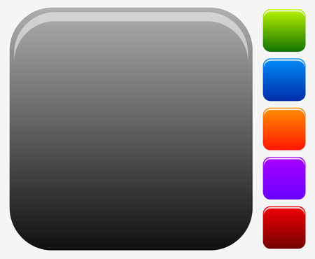 square buttons: Empty square button or icon backgrounds for symbols.