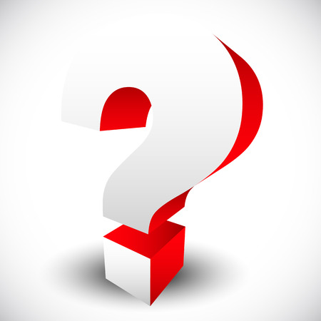 questionable: 3D red question mark graphics for related concepts. Problem solving, questions, riddle, quiz, looking for a solution.