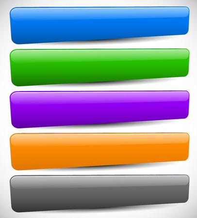 空白のボタン背景の異なる色のセットです。ベクター デザインの要素
