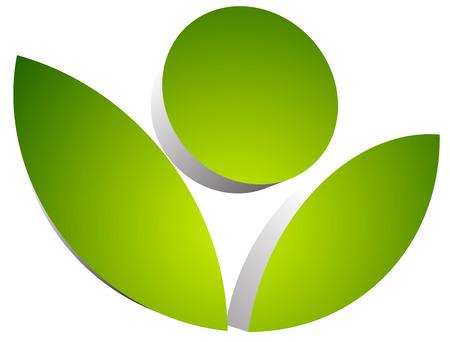 3d flower: 3d flower symbol isolated. eps 10 vector graphics.