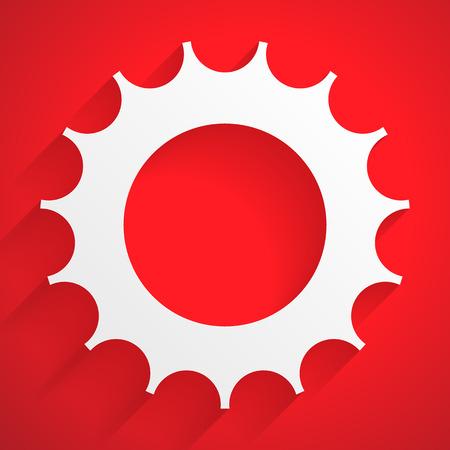 rackwheel: Gearwheel backdrop. Editable vector with transparent shadow.