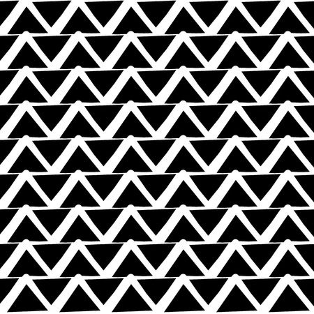 repeatable: Repeatable pattern with wavy, zigzag lines. (editable vector)