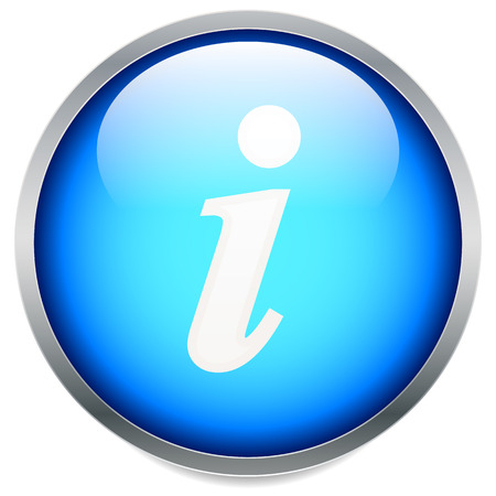point i: Information, info icon with letter i with italic font. vector.