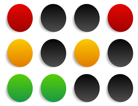 trafic stop: Traffic light (traffic lamp, semaphore) concept graphics. Green, yellow, red lights.