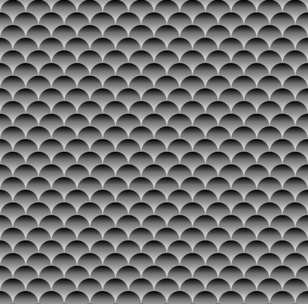 seamlessly: Grayscale (monochrome) pattern with overlapping circle shapes. Seamlessly repeatable.