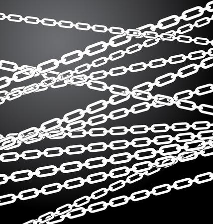 slanted: Textura  patr�n con cadenas coloca al azar. Conceptos del recinto, de restricci�n, prohibici�n, �rea cerrada.