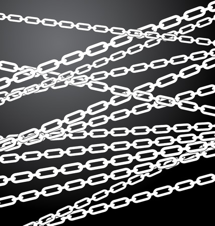 chainlinks: Texture  pattern with chains placed randomly. Enclosure, restriction, prohibition, closed area concepts.
