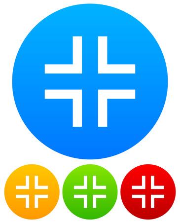 angular: Icons with simple angular, crosshair, reticle symbols.
