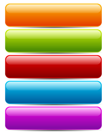 red button: Colorful buttonbanner templates. Horizontal bars with blank space for text Stock Photo