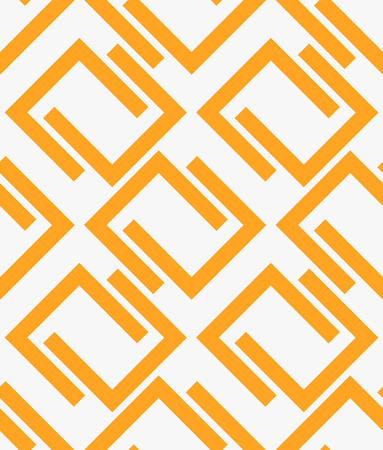 interlinked: Seamless, repeatable pattern with U shaped forms. Stock Photo