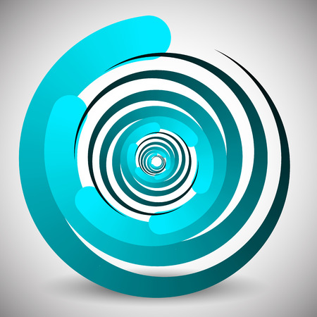 spinning: Abstract spinning, swirling element. Editable vector graphics.
