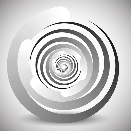 hypnotism: Abstract spinning, swirling element. Stock Photo