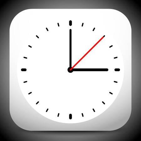 appointment: Clock vector icon for time, appointment, accuracy concepts.