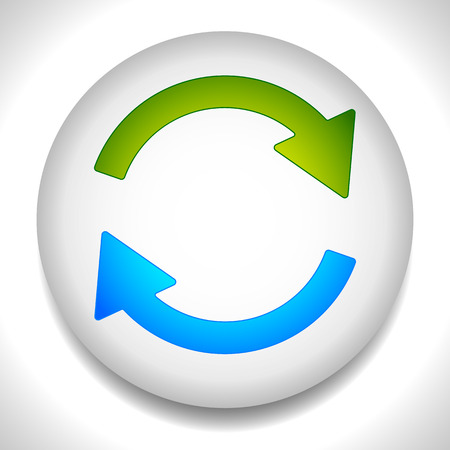 repetition: Circular arrows for recycle, repetition, rotation or cycle, synchronization, forward, backward concepts. Arrows in circle vector graphics. Illustration