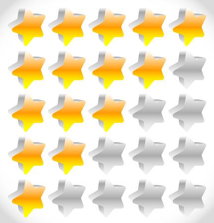 star rating: Elemento di stelle per la valutazione, la qualit�, rating o la soddisfazione del cliente, i concetti di feedback. Vettoriale modificabile. Vettoriali