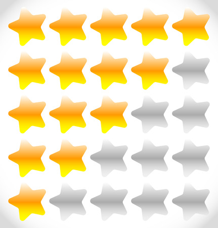 star rating: Star rating element for valuation, quality, rating or customer satisfaction, feedback concepts. Editable vector.