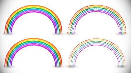 natural arch: Rainbow graphics with spectrum colors