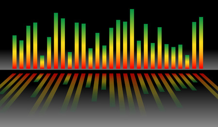 wavelength: Eq, equalizer graphics for audio, playback, multimedia concepts.