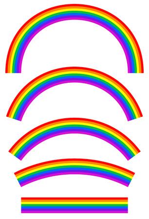 スペクトル色の虹画像
