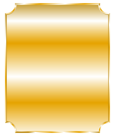 metalic sheet: Plaque, plaquettes with blank space