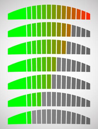 progress bars for measurement concepts