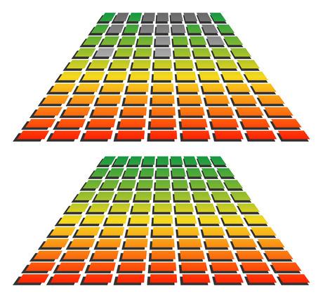 eq: Ec, gr�ficos de ecualizaci�n para los conceptos de audio, reproducci�n, multimedia. Vectores