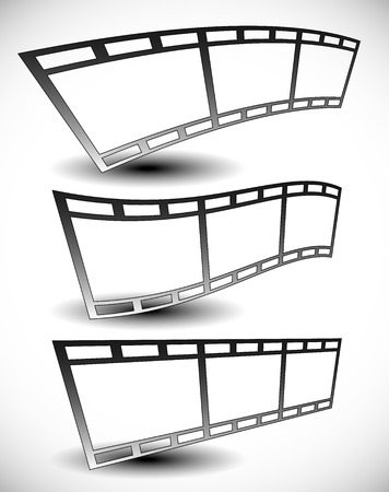 filmstrips: Set of 35 mm filmstrips for photography concepts.